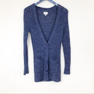 American Eagle Blue Knit Button Up Cardigan